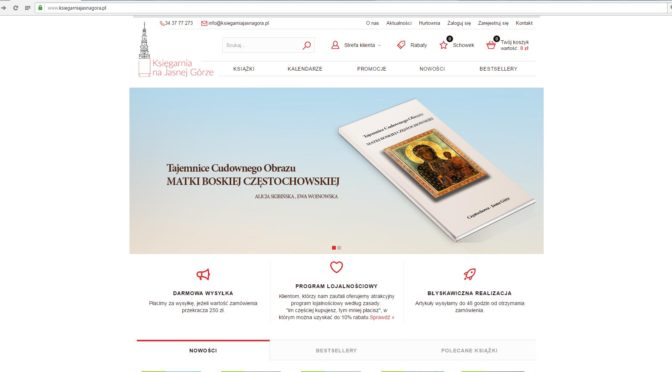 Księgarnia Internetowa na Jasnej Górze