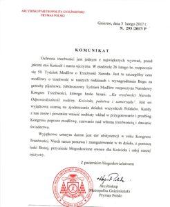 Komunikat Prymasa