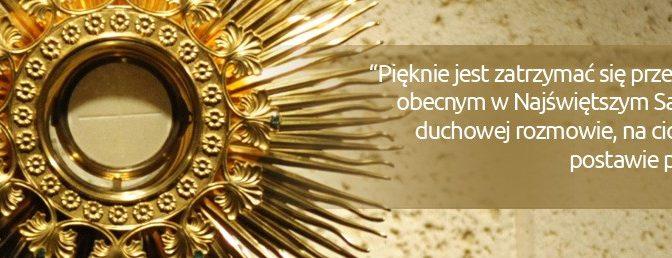 Czwartek. Dzień poświęcony czci Najświętszego Sakramentu